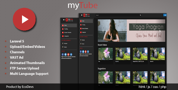 MyTube V1.0 - YouTube Clone